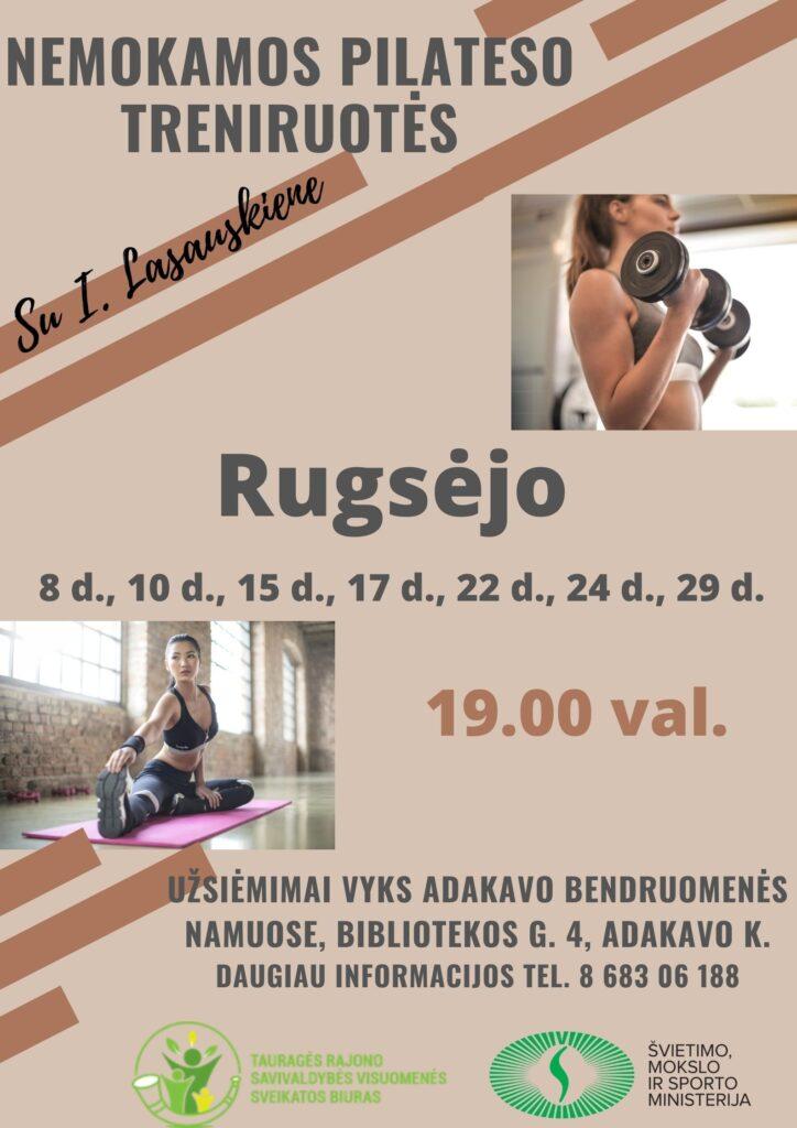 Pilateso treniruotės Adakave 2020-09